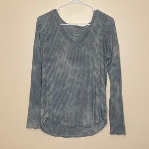 Tops - Blue tie dye long sleeve
